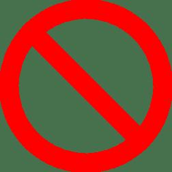 Not allowed.